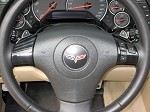 C4 Corvette 1994-1996 Leather Steering Wheel Cover - 2 Spoke