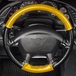 C4 Corvette 1994-1996 Leather Steering Wheel Cover - Two Tone 2 Spoke