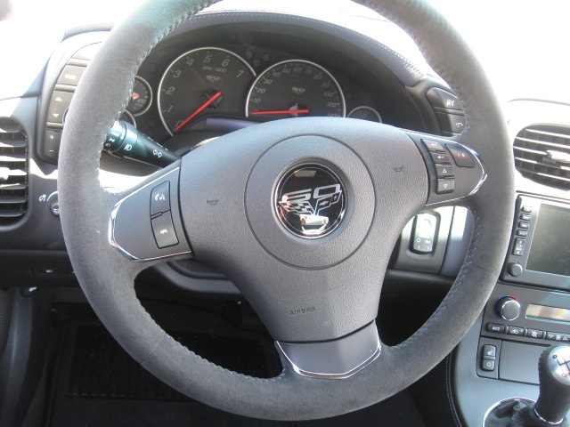 C6 Corvette 2005-2013 Leather Steering Wheel Cover - Two ...