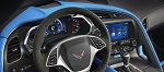 C7 Corvette Stingray/Z06/Grand Sport 2014-2019 Tension Blue Upper Dash Trim Pad Grand Sport Style