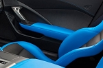 C7 Corvette Stingray/Z06/Grand Sport 2014-2019 Tension Blue Passenger Side Door Trim Grand Sport Style