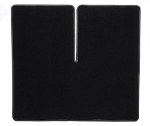 C4 Corvette 1991-1996 Black Cargo Mat w/ Black Binding - Coupe ONLY
