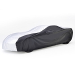 C7 Corvette Stingray / Z51 / Z06 / Grand Sport 2014-2019 Embossed Intro-Guard Car Cover - Indoor / Outdoor - Black / White