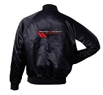C6 Corvette Grand Sport 2005-2013 Satin Jackets - Black