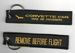 C6 Corvette 2005-2013 C6R Take No Prisoners/Remove Before Flight Keychain - Black/Yellow