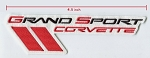 C6 Corvette 2010-2013 Embroidered Grand Sport Logo Patch - 5 Inch - Sold Individually
