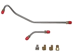 C2 1963-1965 Corvette Pump to Carburetor Stainless Fuel Lines (2 Lines & 4 Fittings) - 327CID 340HP 4BB