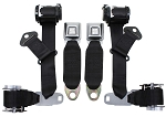 C3 Corvette 1974-1977 Economy Seat Belts/Dual Retractors - Pair