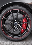 C6 Corvette 2012 Centennial Edition GM OEM Black Cup Wheels With Red Stripes