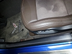 C7 Corvette Stingray/Z06/Grand Sport 2014+ Vinyl Door Sill Protection - Accent Overlay