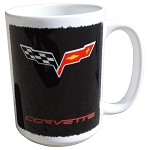 C6 Corvette 2005-2013 Crossed Flags Logo 15oz Coffee Mug