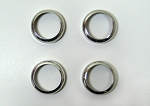 C6 Corvette 2005-2013 Radio & Heater Polished Billet Ring - Set of 4