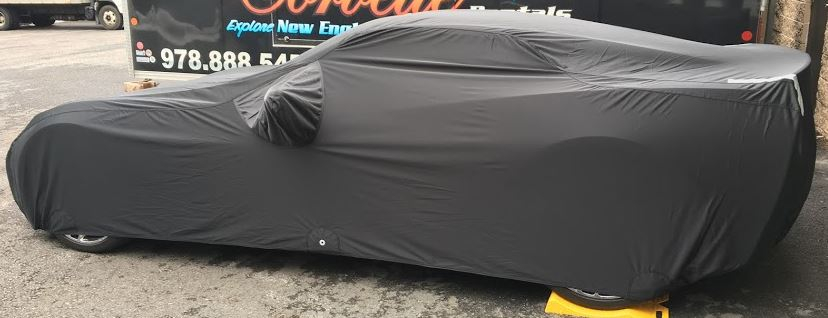 FS13184F5 Fleeced Satin Covercraft Custom Fit Car Cover for Select Mitsubishi Diamante Models Black