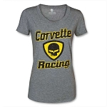 C6 Corvette 2005-2013 Women's Racing Jake Shield T-Shirt