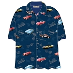C3 C4 C5 C6 Corvette 1968-2013 Classic Corvette Blue Camp Shirt David Carey Design