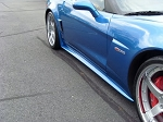 C6 Corvette 2006-2013 Z06/Grand Sport & ZR1 ZR1 Style Side Skirts Custom Painted