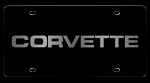 C4 Corvette 1984-1996 License Plate - C4 Lettering - Black