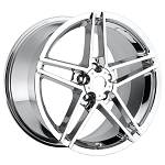 C6 Corvette 2005-2013 Z06 Style Wheels Set Chrome No Rivets 18x8.5/19x10