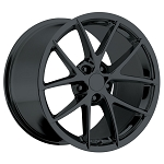 C6 Corvette 2005-2013 Spyder Style Wheels Gloss Black Set 18x9.5/19x12