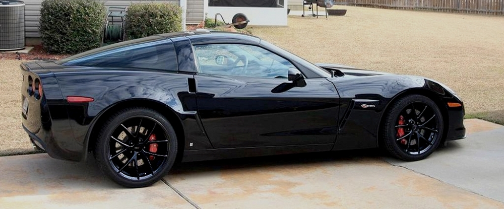 C6 Corvette 2005 2013 Spyder Style Wheels Gloss Black Set