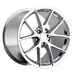 C6 Corvette 2005-2013 Spyder Chrome Wheel Set 18x9.5/19x12