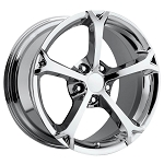 Corvette C6 05-13 Grand Sport Style Wheel Set Chrome 18x8.5/19x10