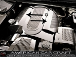 C5 Corvette 1999-2004 Fuel Rail Covers Perforated With Cap Cover