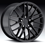 C4 C5 Corvette 1988-2004 C6 ZR1 Style Wheel Set Gloss Black - 18x8.5/19x10