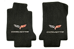 C6 Corvette 2005-2013 Lloyds Ultimat Logo and Lettering Front Floor Mats