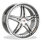 C5 C6 Corvette 1997-2013 SR1 Performance Bullet Series Wheels - 18x8.5/19x10 - Full Set (4)