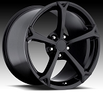 C6 Corvette 2005-2013 Grand Sport Style Wheel Set Gloss Black 18 x 9.5/19 x 10