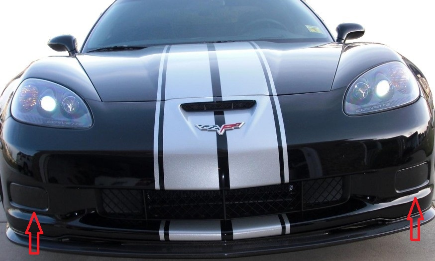 C6 Corvette Z06 / Grand Sport / ZR1 2006 2013 Fog Light Blackout Kit |  Corvette Mods