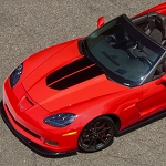 C6 Corvette 2013 60th 427 Stripe Hood Decal Split Design