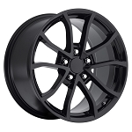 C6 Corvette Base / Z06 / Grand Sport / ZR1 2006-2013 Centennial Cup Style Wheels Set in Gloss / Satin Black - 19x10 / 20x12