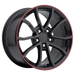 C4 C5 Corvette 1988-2004 C6 Style 2013 Corvette 427 Centennial Special Edition Cup Wheel Set - Gloss Black 17x8.5/18x9.5