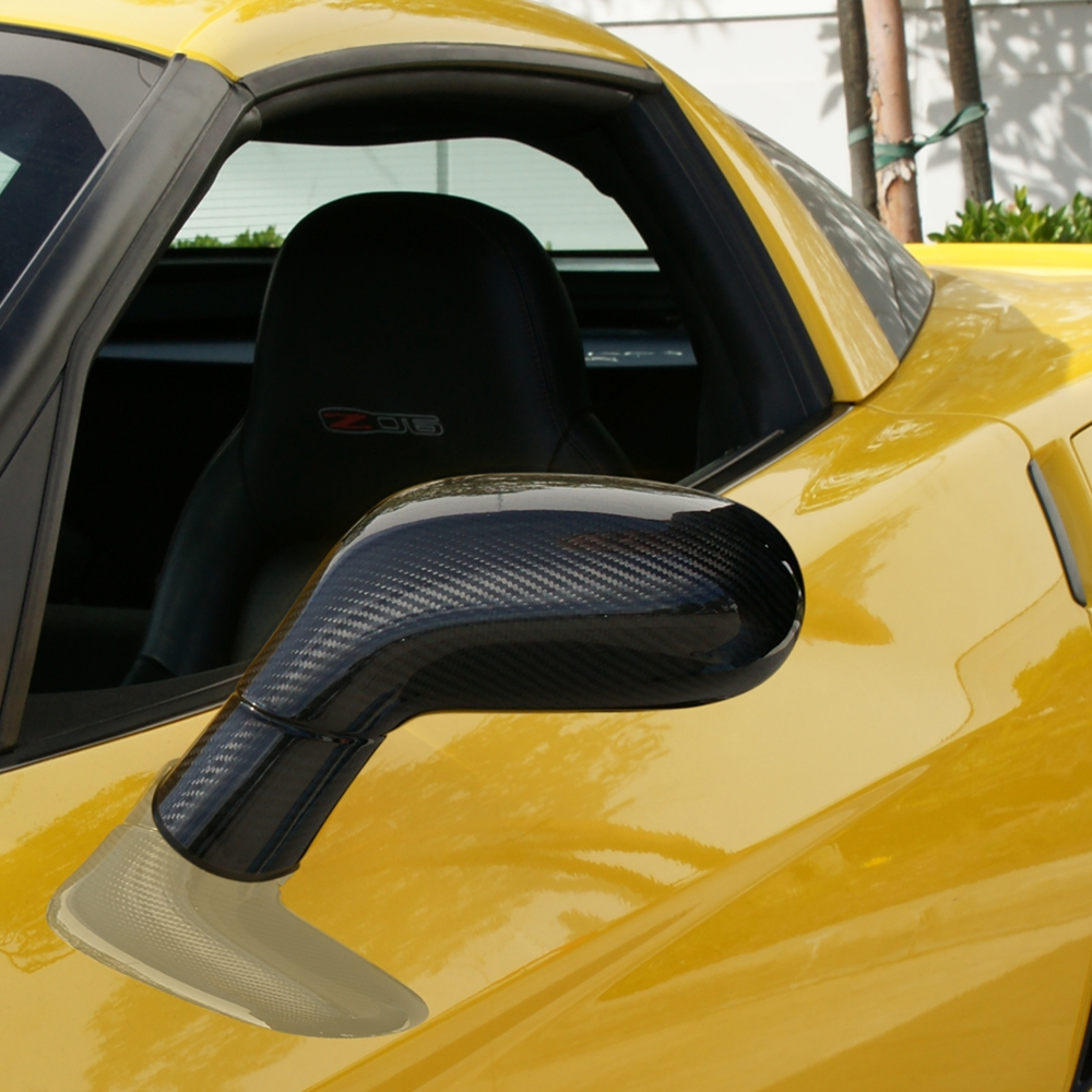 Carbon Fiber C6 Corvette 05 13 Parts Accessories 2008 Engine Diagram 2005 2013 Apr Side Mirror Shells Pair