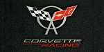 Corvette C5 1997-2004 Velourtex Lloyd Cargo Mat - Flags and Corvette Racing