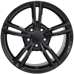 Corvette C5 97-04 C6 Style Split Spoke Wheels Black 17x8.5/18x9.5