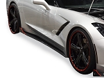 C7 Corvette Stingray/Z06/Grand Sport 2014+ RK Sport Tapered Blade Side Rockers - Fiberglass / Carbon Fiber