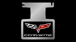 Corvette C6 Black Gel Logo Enhancer Plate -Not For NPP Exhaust
