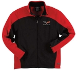 C6 Corvette Mens Bonded Hexport Jacket - Red/Gray Options