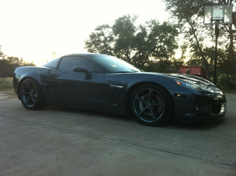C6 Corvette 2005 2013 Smoked Blackout Front Only Side Marker