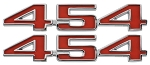 1973-74 C3 Corvette Reproduction 454 Hood Emblems, Pair