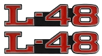 C3 Corvette 1968-1982 Hood Emblems - L-48 & L-82 Options