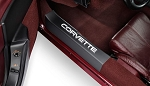 C4 Corvette 1984-1996 Door Sill Guards - Raised Lettering