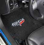 C6 Corvette 2013 Lloyd Ultimat Front Floor Mats - 60 Years Corvette Anniversary & Cross Flags