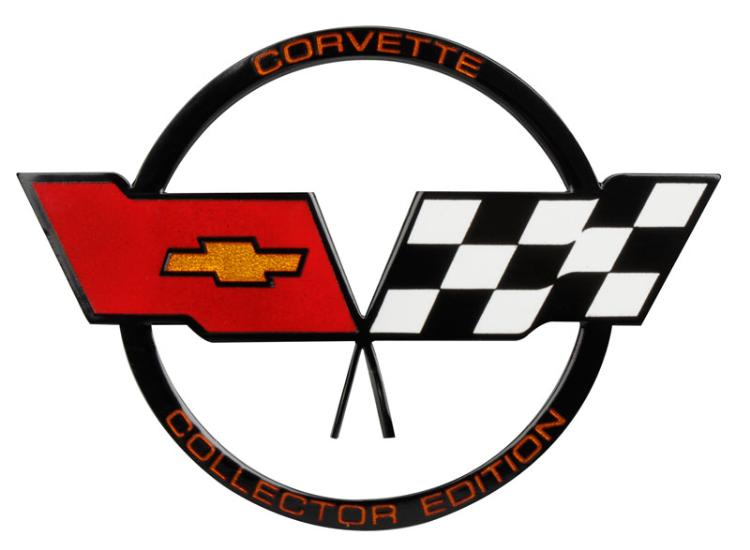 c3 corvette 1982 collector edition crossed flags nose emblem