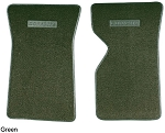 C3 Corvette 1968-1982 Floor Mats with Embossed Corvette Lettering - Cut-Pile