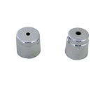 C5 C6 Corvette 1997-2011 Air Conditioning Check Valve Chrome-Plated Cap Covers - Pair