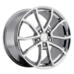 2013 CORVETTE 427 CENTENNIAL SPECIAL EDITION CUP STYLE WHEELS (SET) CHROME 18X8.5 / 19X10 2006-2013 C6